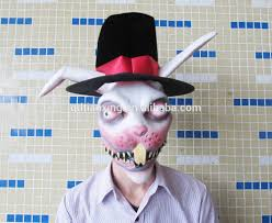 wholesale halloween toys rabbit bunny mask costume cosplay easter white faux fur halloween