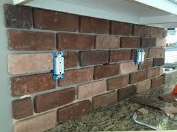 Full Size Of Brick Wall Whitewash Brick Fireplace Fake Stone Wall - Brick veneer backsplash