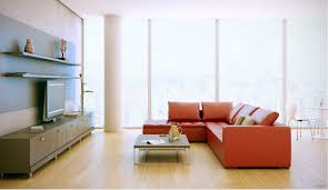 Living Room Red Sofa by Red Sofa Wood Entertainment Unit Interior Design Ideas