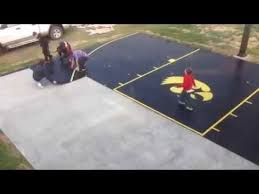 Backyard Tennis Court Cost Snapsports Time Lapse Diy Install Of Home Backyard Basketball