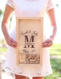 personalized wine cork keeper custom wedding gift rustic barn