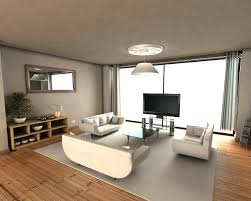 Modern Single Wooden Sofa Luxurious Apartment Layout Studio With Single Modern Living Room