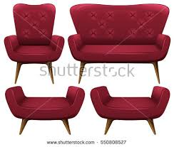 chairs sofa brown color illustration stock vector 553509214