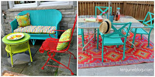 Turquoise Patio Chairs Colorful Outdoor Furniture Coated Patio Chairs Different