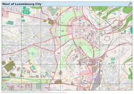 Map Of Luxembourg Maposmatic Dev West Of Luxembourg City