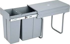 Kitchen Trash Cabinet Pull Out Cabinet Trash Can Diy Diy Pull Out Trash Can In A Kitchen Cabinet