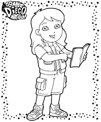 coloring pages dora and diego picture 13
