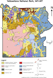 Yellowstone Map Usa by Geologic Map Of Yellowstone National Park