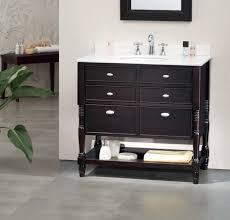 single 36 inch transitional bathroom vanity