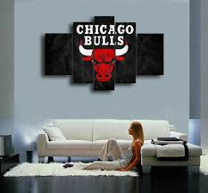 aliexpress com buy chicago bulls hand painted wall art canvas
