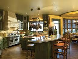 kitchen luxury kitchen design with green wooden island and green
