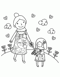 card for mom mother u0027s day coloring page for kids coloring pages