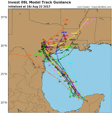 Map Sliding Thought Blog by Cool U0026 Showery Bias Into Weekend Hurricane Risk Grows For Texas