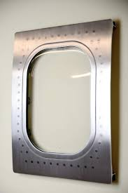 this airplane window was cut from a 767 and turned into a custom