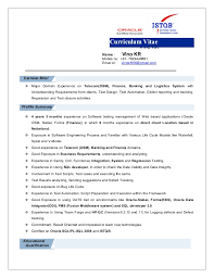 Resume For Software Testing Experience Essay Censorship Video Games Cover Letter Brand Manager Position