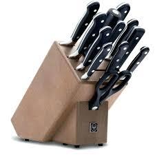 bloc de couteaux de cuisine professionnel set de couteau de cuisine couteau de cuisine bloc couteaux brun 12
