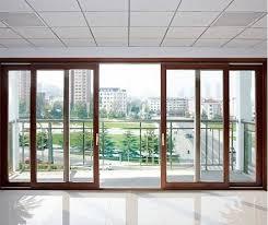 Backyard Sliding Door Bronze Anodized Aluminum Sliding Patio Doors In Three Panel Design