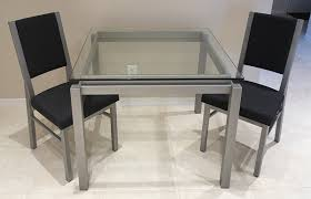 Dining Room Sets Glass Table by Contemporary Dinette Sets Glass Kitchen Tables Dinettes Wood