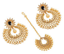 Chandelier India by Indian Gold Plated Chandelier Design Crystal Made Earring With