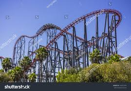 Viper Roller Coaster Six Flags Thrill Ride Six Flag Stock Photo 126372479 Shutterstock
