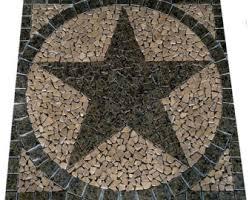 Tile Medallion Backsplash by Square Charro Texas Star Mosaic Porcelain Tile Medallion