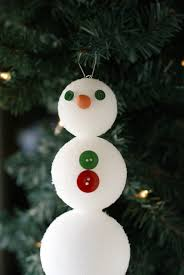 easy snowman ornament craft for clever pink pirate