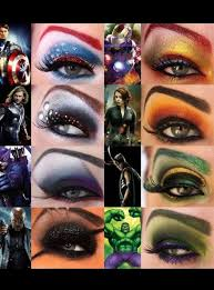 the avengers eye makeup iron man loki thor black widow nick