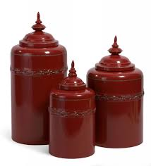 ideas red ceramic kitchen canisters with pretty lid for kitchen