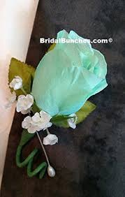 boutonniere prom mint boutonniere prom or wedding flowers