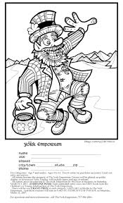 another leprechaun another coloring page john simcoe u0027s comics