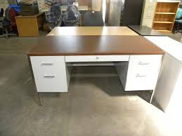used steelcase desks for sale used steelcase 30 x60 metal desk with double pedestals and for