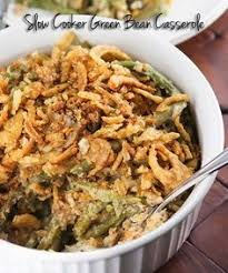 slow cooker green bean casserole recipe french fried onions