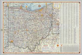 map of ohio shell highway map of ohio david rumsey historical map collection