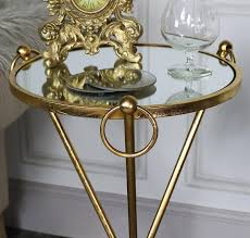 vintage gold side table tall antique gold mirrored side table melody maison