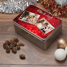 Christmas Decoration Storage Ideas Uk by Personalised Metal Storage Tin With Photo Custom Tin Uk Next Day