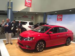 red nissan sentra 2017 nissan sentra sr turbo graces the miami auto show