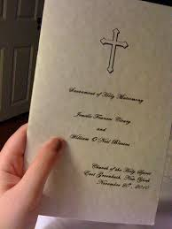 Catholic Wedding Booklet Our Nuptial Mass Home Again