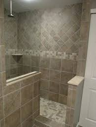 Small Bathroom Designs With Walk In Shower Blue Gray Subway Tile Shower Floor Tile Not The Stripe On The