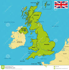 Great Britain On World Map by Political Map Of United Kingdom With Regions And Their Capitals