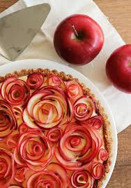 maple custard tart with apple decor best easy thanksgiving