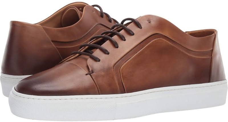 Bruno Magli Salvini BM600671 Brown Leather Casual Fashion Sneakers Shoes