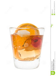 old fashioned cocktail old fashion cocktail on a white background royalty free stock