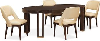 savoy oval table and 4 side chairs merlot value city furniture dining room furniture savoy oval table and 4 side chairs merlot hover to zoom