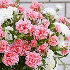 carnation flowers 6 buds silk artificial flowers fleur artificielles carnation