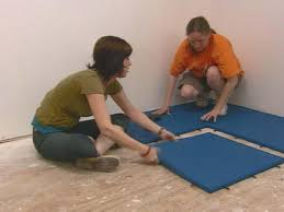 Flooring Rubber Tiles How To Install Rubber Tile Flooring How Tos Diy