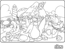 Penguin Coloring Pages Club Penguin Coloring Pages Getcoloringpages Com by Penguin Coloring Pages