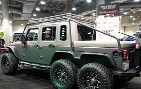 jeep hellcat truck hellcat powered jeep wrangler 6x6 is a monster of a truck jeeps