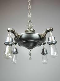 original bare bulb pan light fixture 4 light