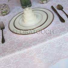 silver lace table overlay light pink lace wedding table overlay by floratouch on etsy 12 00