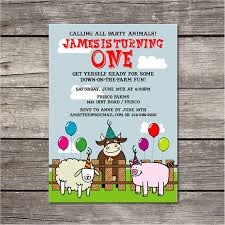 birthday invites wonderful farm themed birthday invitations ideas